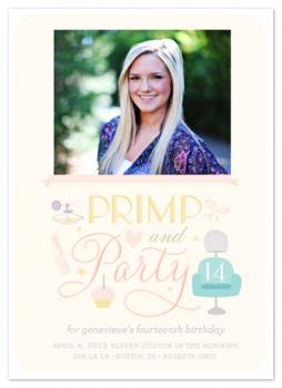 primp & party Party Invitations