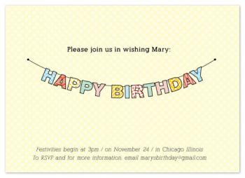 Birthday Banner Party Invitations