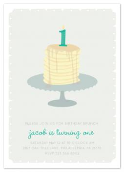 First Birthday Brunch Party Invitations