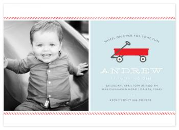 Little Red Wagon Party Invitations