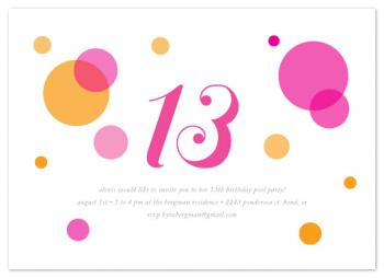 mod balloons Party Invitations