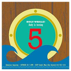 Holy Whale! Party Invitations