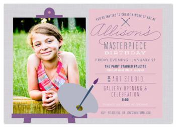 Masterpiece Birthday Party Invitations