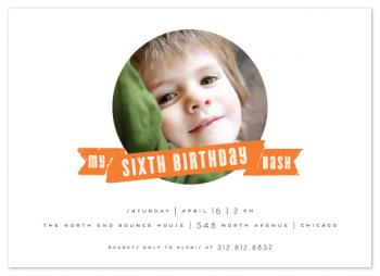 Banner Bash Party Invitations
