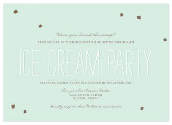 Mint Chocolate Chip Party Invitations