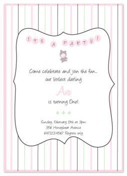 Honeybear and Hugs Party Invitations