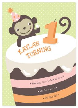 BIG CAKE Party Invitations