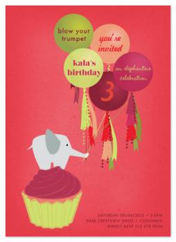 An Elephantine Celebration Party Invitations