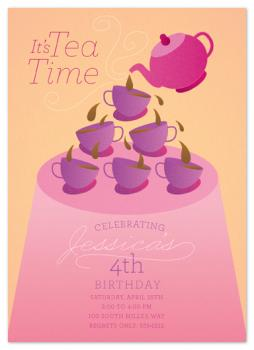 It's Tea Time Party Invitations