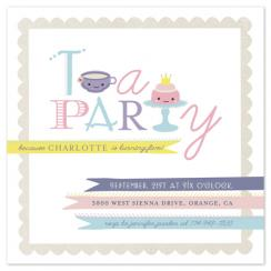 Teapography Party Party Invitations