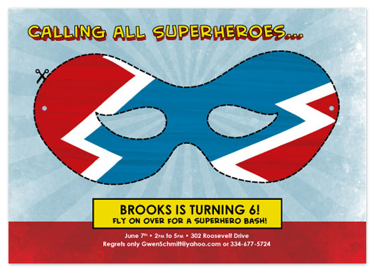 party invitations - A Superhero Bash by Simply Shira