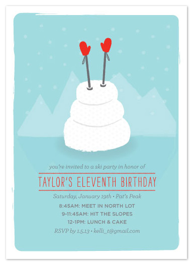 party invitations - B-Day Ski Day at Minted.com