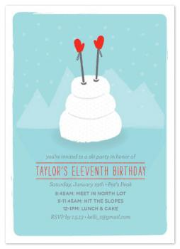 B-Day Ski Day Party Invitations