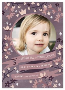 Crown Florals Party Invitations