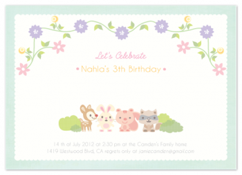Forest Friends Party Invitations