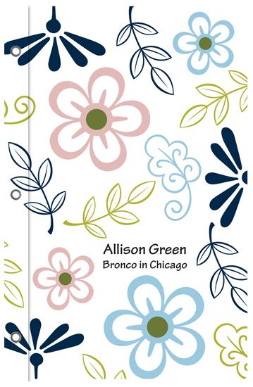 journals - Flower Swirls by Stephanie Blaskiewicz