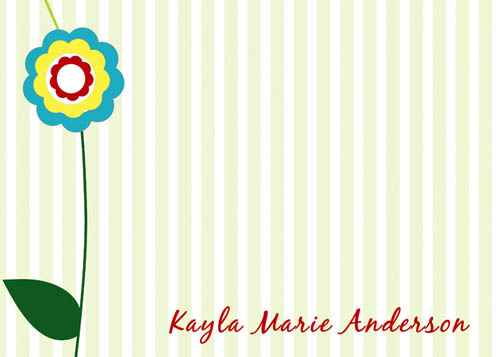 personal stationery - Stripes and flowers by CML Designs