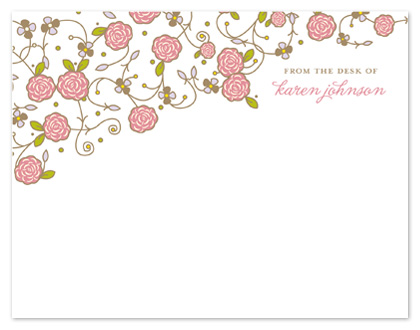 personal stationery - Flowers and Vines by tracey atkinson