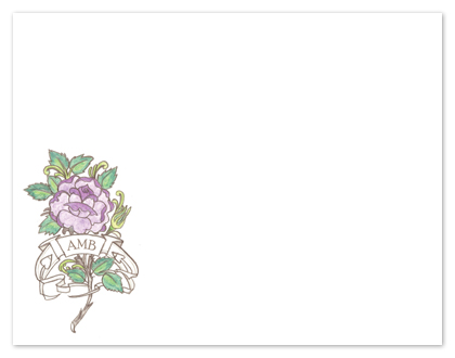 personal stationery - Rose & Banner Monogram by Shamera Kane