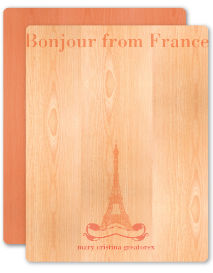 personal stationery - Bonjour from Paris by Adrienne Berry