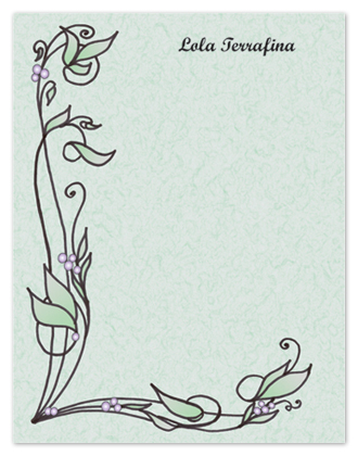personal stationery - Terrafina Vines & Leaves by Shamera Kane