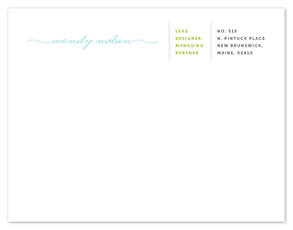personal stationery - business or pleasure by Up Up Creative