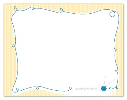 personal stationery - Yarn Notes by Vanessa Wolfe