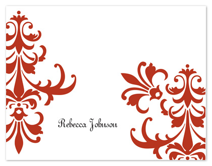 personal stationery - Red Swirl by Stephanie Blaskiewicz