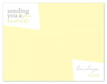 Sending A Note Corners Personal Stationery