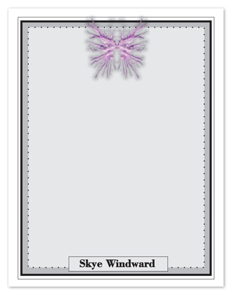 personal stationery - the purple butterfly  by Shamera Kane