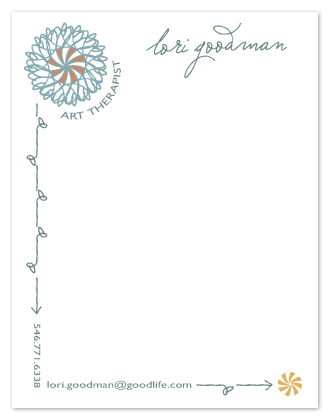 personal stationery - Spiral Effect by Maggie Ziomek
