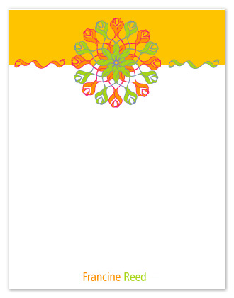 personal stationery - Bright Ribbons by Maggie Ziomek