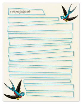 sparrows aflight Personal Stationery