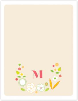 Rustic Fruits & Florals Personal Stationery