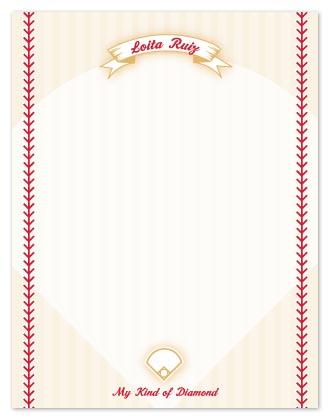 personal stationery - My Kind of Diamond Notes by Vanessa Wolfe