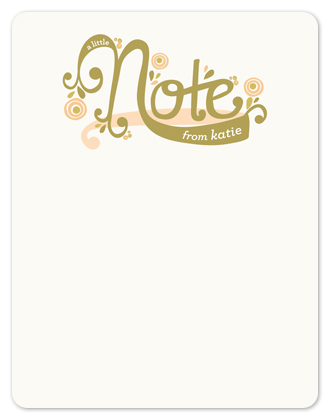 personal stationery - Whimsy Note by Melanie Severin