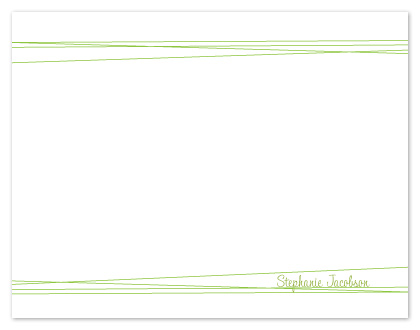 personal stationery - Simple Lines by Alina