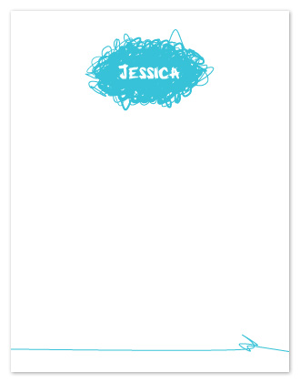 personal stationery - Scribble Note by Alina