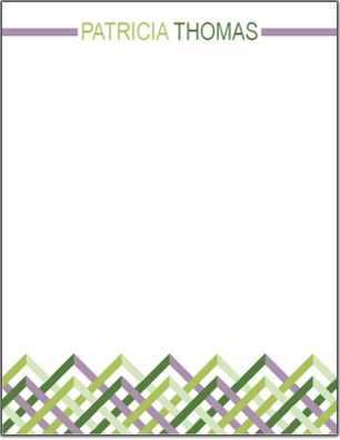 personal stationery - Woven Color by Sami P