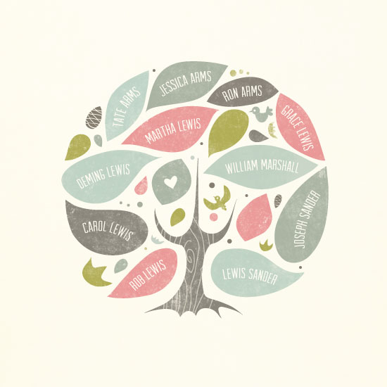 art prints - Folk Family Tree by Heather Francisco