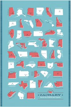 States and Capitals Art Prints
