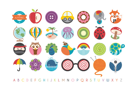 art prints - Alphabet in the Round by Lyndsay Johnson