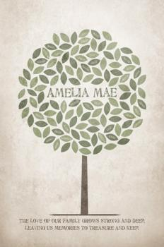Rustic Family Tree  Art Prints