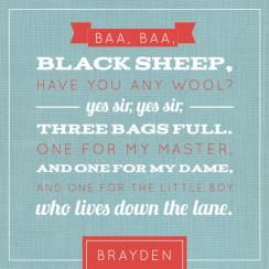 Baa Baa Black Sheep Art Prints