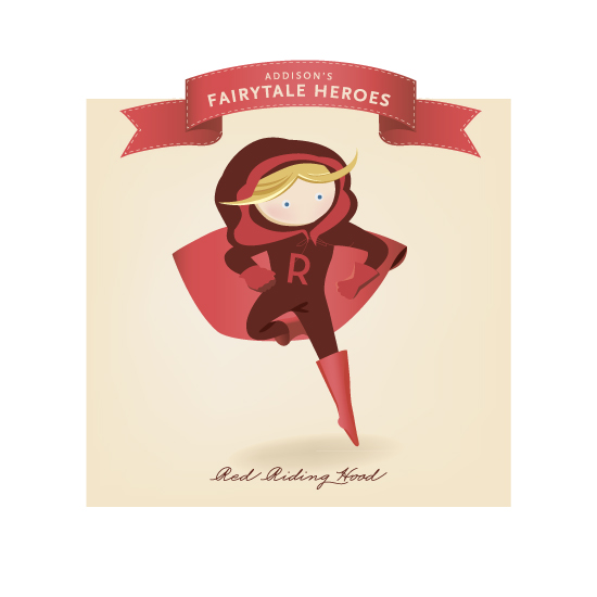 art prints - Fairytale Superhero Red Riding Hood by Lori Wemple
