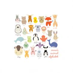 Personal Animal Alphabet Art Prints