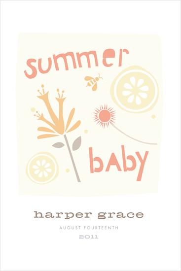 art prints - summer baby by Carolyn MacLaren