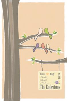 Birdies in a Tree Art Prints