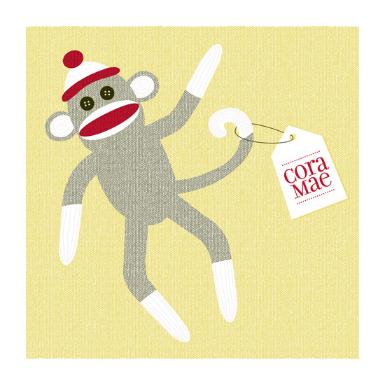 art prints - Sock Monkey by Tami Bohn