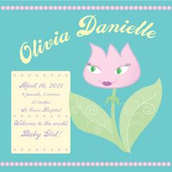 Twirly Girl Tulip Art Prints